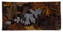 Oak And Maple Leaves Beach Towel by Tim Good
