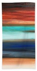 Oak Creek #28 Southwest Landscape Original Fine Art Acrylic On Canvas Beach Towel