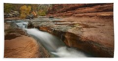 Beach Towel featuring the photograph Oak Creek In Slide Rock State Park by Tim Fitzharris