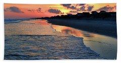 Oak Island Pastel Sunset Beach Towel