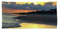 Oak Island Yellow Sunset Beach Towel