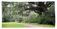 Oak Over The Trail Beach Towel