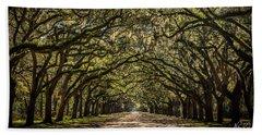 Oak Tree Tunnel Beach Towel