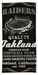 Oakland Raiders Whiskey Beach Towel by Joe Hamilton