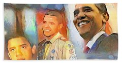 Obama - From Boy Scout To President Beach Towel