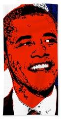 Beach Sheet featuring the digital art Obama Hope by Rabi Khan