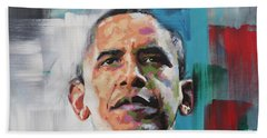 Obama Beach Towel by Richard Day