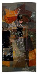 Objects In Space With Gold Beach Towel