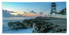 Observation Tower At Dawn Beach Towel