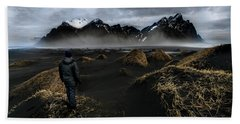 Observing The Beauty Of Iceland Beach Towel