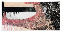 Obsidian Blush Beach Towel