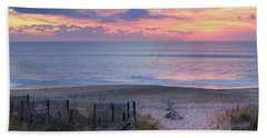 Obx Sunrise Beach Towel by Lori Deiter