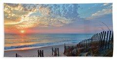 Obx Sunrise September 7 Beach Towel