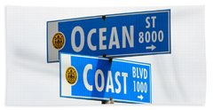 Ocean And Coast Beach Towel