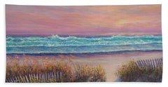 Ocean Beach Path Sunset Sand Dunes Beach Sheet