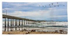 Ocean Beach Pier Fishing Airforce Beach Towel
