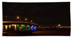 Ocean City Bridge - Lit Up For Orlando Beach Towel