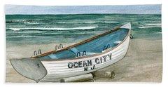 Ocean City Lifeguard Boat Beach Sheet