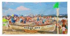 Ocean City Rescue Boat 2 Beach Sheet