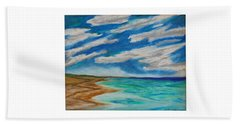 Ocean Clouds Beach Sheet