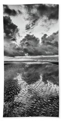 Beach Towel featuring the photograph Ocean Clouds Reflection by Donnie Whitaker