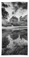 Ocean Clouds Reflection Beach Towel