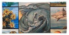 Ocean Collage #1 Beach Sheet