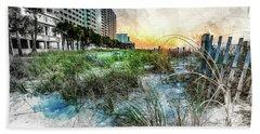 Ocean Drive Easter Sunrise Beach Towel