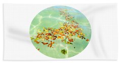 Beach Towel featuring the photograph Ocean Flowers Oval by Linda Hollis