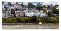 Ocean Front Homes In White Rock Bc Beach Towel