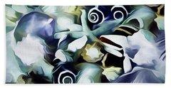 Beach Sheet featuring the mixed media Ocean Gems 21 by Lynda Lehmann