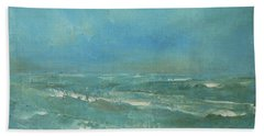 Beach Towel featuring the painting Ocean Green by Jane See