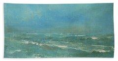 Ocean Green Beach Sheet by Jane See