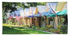 Ocean Grove Tents Sketch Beach Towel