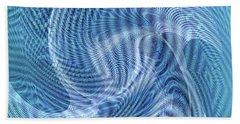 Beach Towel featuring the digital art Ocean II by Visual Artist Frank Bonilla