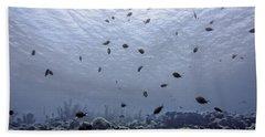 Beach Towel featuring the photograph Ocean Light by Perla Copernik