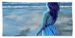 Beach Towel featuring the painting Ocean Longing by Tim Gilliland