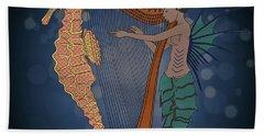 Beach Sheet featuring the digital art Ocean Lullaby1 by Megan Dirsa-DuBois