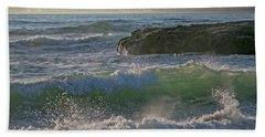 Crashing Waves Beach Towel