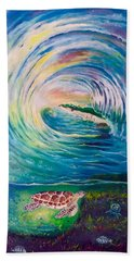 Beach Towel featuring the painting Ocean Reef Beach by Dawn Harrell