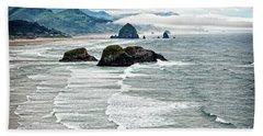 Ocean Rocks Off The Oregon Coast Beach Towel