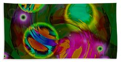 Beach Towel featuring the digital art Ocean Storm by Lynda Lehmann