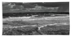 Beach Towel featuring the photograph Ocean Storms by Nicholas Burningham