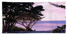 Ocean Views From Carmel Beach  Beach Towel