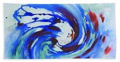 Ocean Wave Watercolor Beach Towel