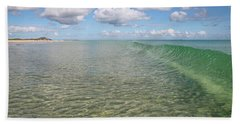 Ocean Waves And Clouds Rollin' By Beach Towel