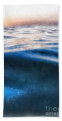 Beach Towel featuring the painting Ocean Waves by Edward Fielding