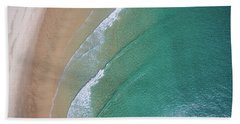 Ocean Waves Upon The Beach Beach Towel