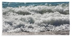 Beach Towel featuring the photograph Oceans Layers by Colleen Coccia