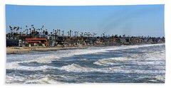 Beach Towel featuring the photograph Oceanside by AJ Schibig